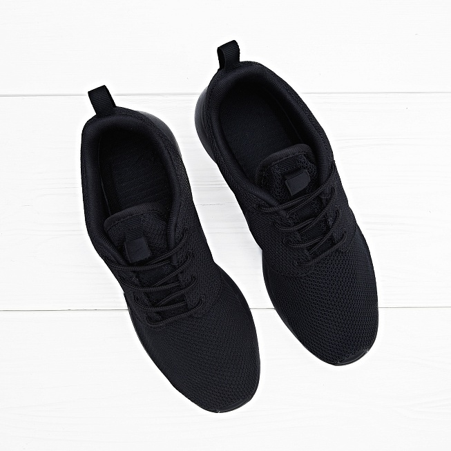 Кроссовки Nike ROSHE ONE Triple Black  - Фото 3