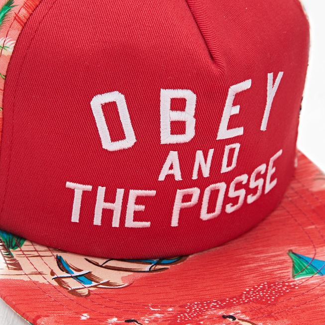 Снепбек Obey ADVENTURE SNAPBACK Red - Фото 1