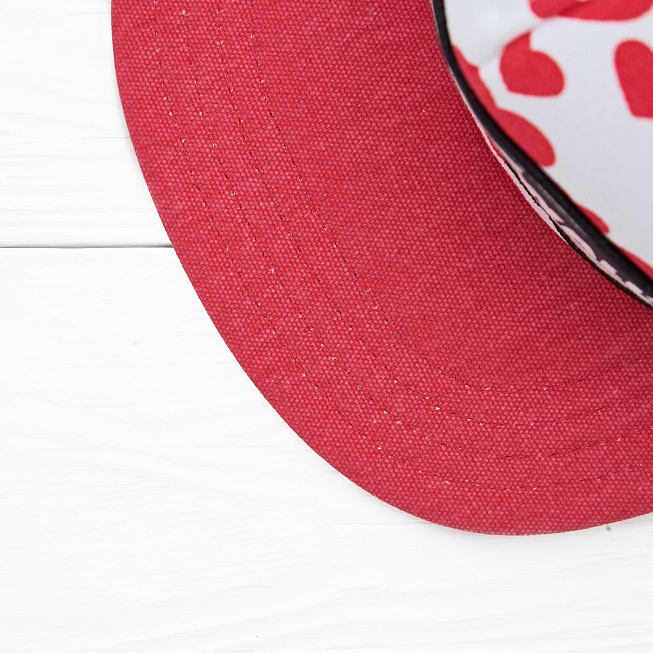 Снепбек Vans BEACH GIRL TRUCKER Hearts Red/White - Фото 2