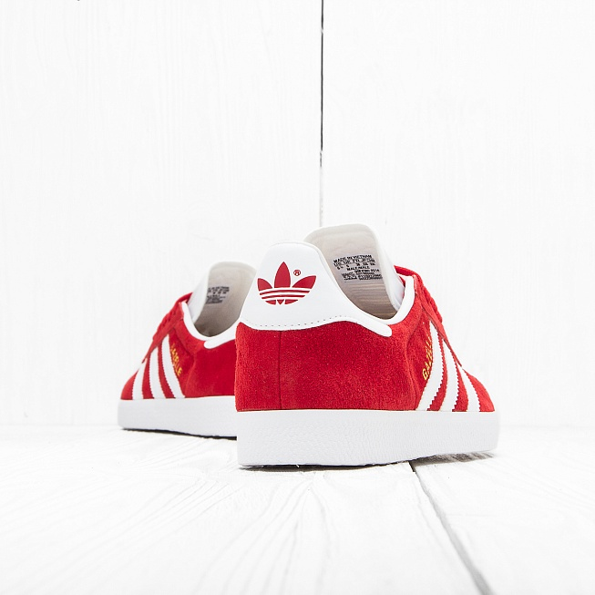 Кроссовки Adidas GAZELLE Power Red/Off White/Gold Met - Фото 3