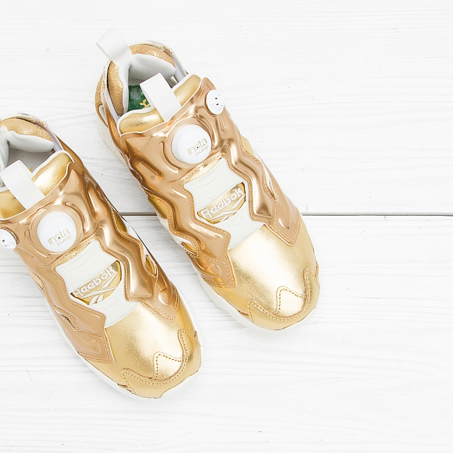 Кроссовки Reebok INSTA PUMP FURY CELEBRATE Reebok Brass/Chalk - Фото 3