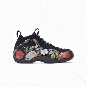 "Кроссовки Nike W AIR FOAMPOSITE ONE ""Floral"" Black/Blackl-Metallic Gold"