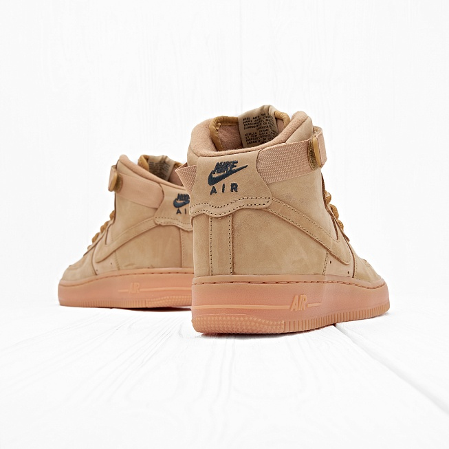 Кроссовки Nike AIR FORCE 1 HIGH WB (FLAX) (GS) Flax/Flax-Outdoor Green - Фото 2