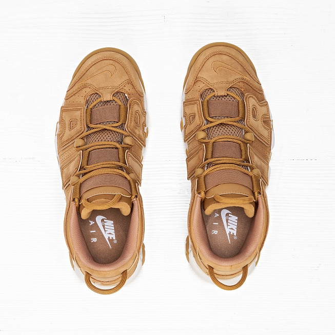 Кроссовки Nike AIR MORE UPTEMPO 96 PRM (FLAX) Flax/Flax-Gum Light Brown - Фото 4