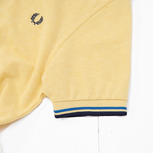 Поло Fred Perry SLIM FIT TWIN TIPPED Yellow - Фото 4