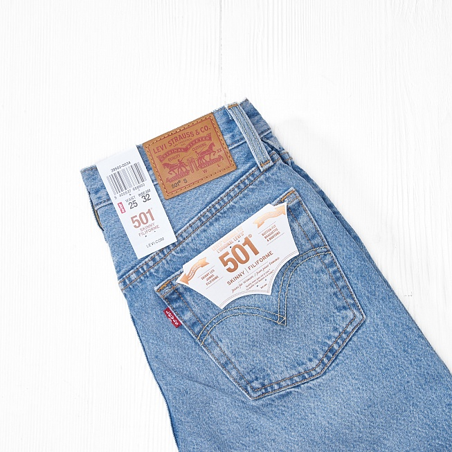 Джинсы Levis 501 SKINNY Cant Touch This - Фото 1