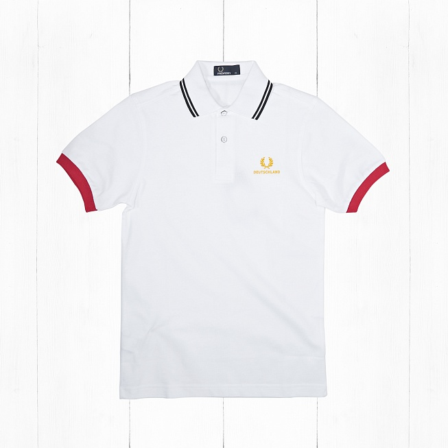 Поло Fred Perry COUNTRY SHIRT DEUTSCHLAND White