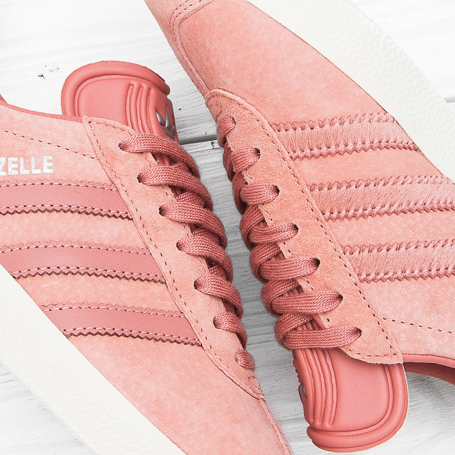 Кроссовки Adidas W GAZELLE Off Rose/Off White/Off White - Фото 6