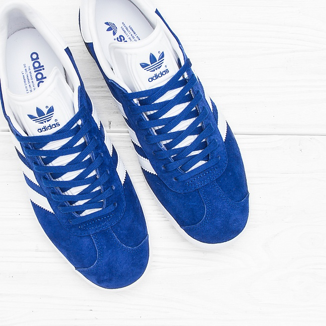 Кроссовки Adidas GAZELLE Collegiate Royal/Off White/Gold Met - Фото 3