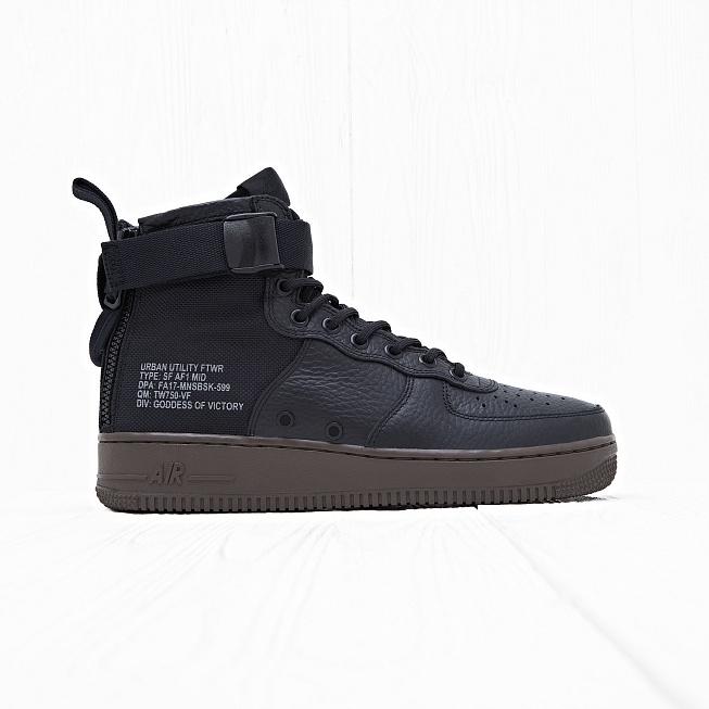 163b4c0d Кроссовки Nike SF AF1 MID Black/Black-Cargo Khaki цена, купить в интернет-магазине  Queens