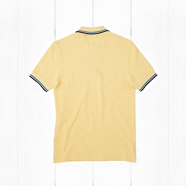 Поло Fred Perry SLIM FIT TWIN TIPPED Yellow - Фото 1