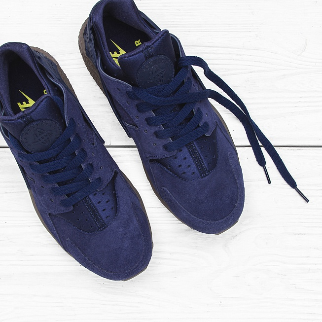 Кроссовки Nike AIR HUARACHE RUN SE Binary Blue/Dark Grey - Фото 3