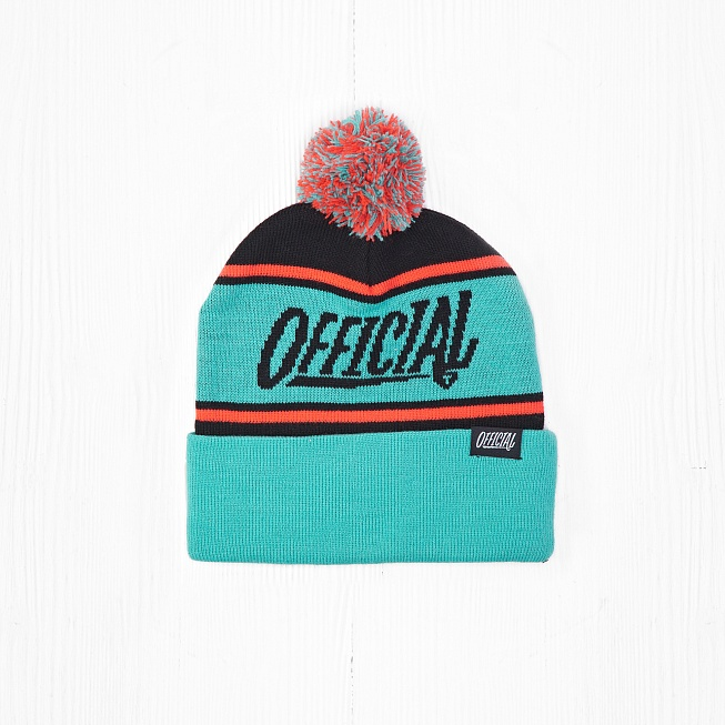 Шапка Official 1-D POM POM Teal