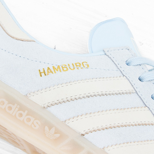 Кроссовки Adidas W HAMBURG Ice Blue F16/Off White/Off White - Фото 4