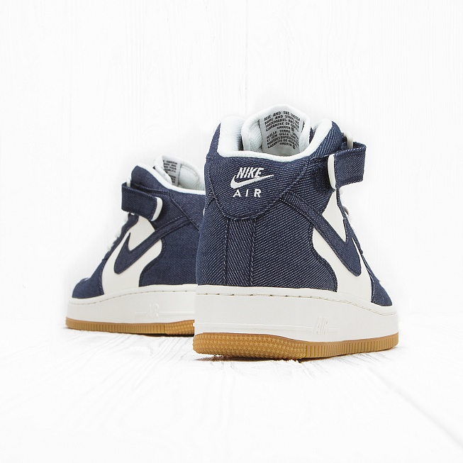 Кроссовки Nike AIR FORCE 1 MID 07 Obsidian/Obsidian-Sail-Gum Light Brown - Фото 2
