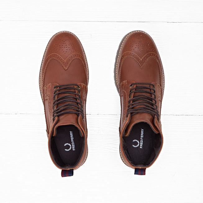 Ботинки Fred Perry NORTHGATE Brown - Фото 2
