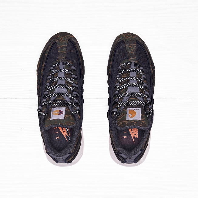 Кроссовки Nike x Carhartt WIP AIR MAX	95 Black/Total Orange-Sail - Фото 3