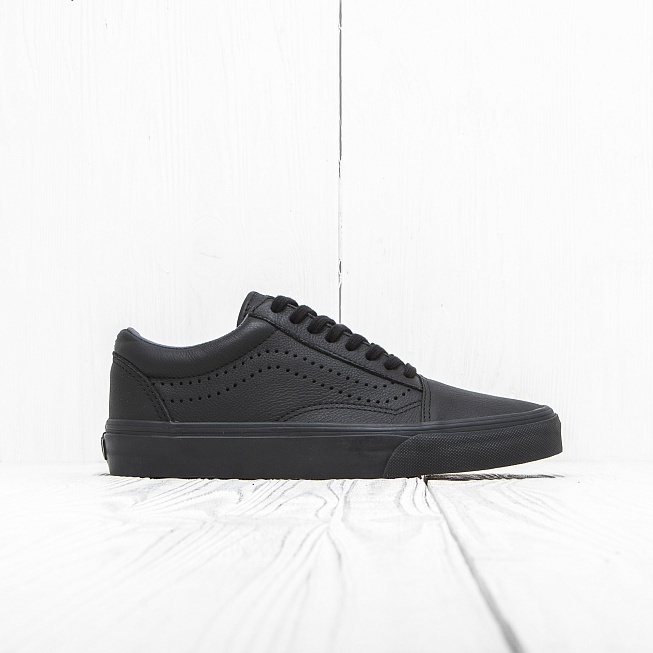 Кеды Vans OLD SKOOL REISSUE Black Leather цена 1a23f4f3acf46