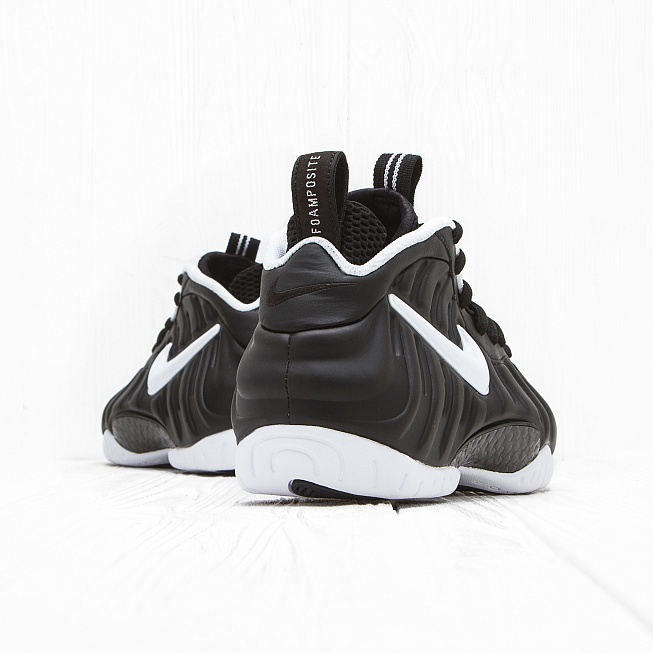 Кроссовки Nike AIR FOAMPOSITE PRO Black/White-Black - Фото 2
