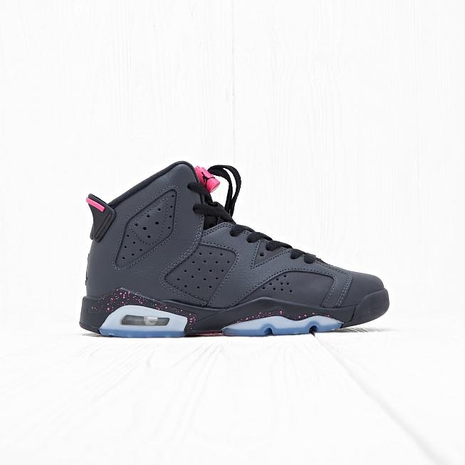 Кроссовки Jordan AIR JORDAN 6 RETRO (GG) Anthracite Black-Hyper Pink цена,  купить в интернет-магазине Queens 6161dc15e8c