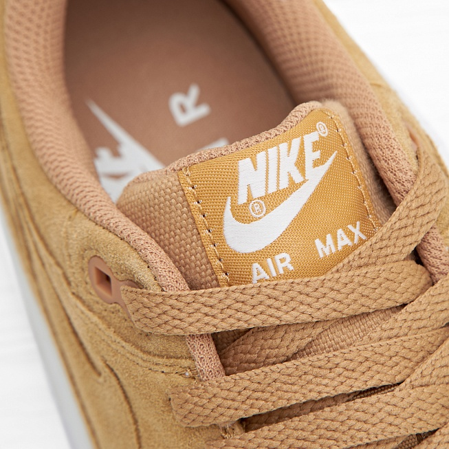 Кроссовки Nike AIR MAX 1 PRM (FLAX) Flax/Flax-Sail-Gum Medium Brown - Фото 6