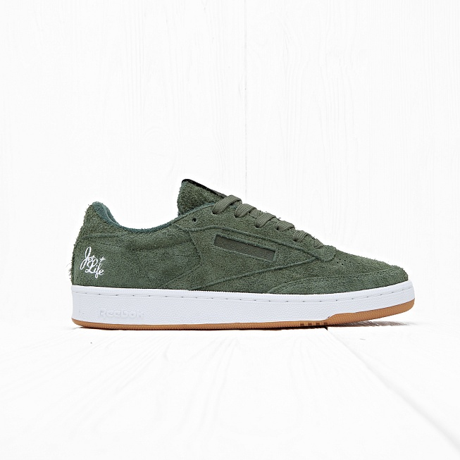 Кроссовки Reebok x Curren$y CLUB C 85 JL Primal Green/White Hemp