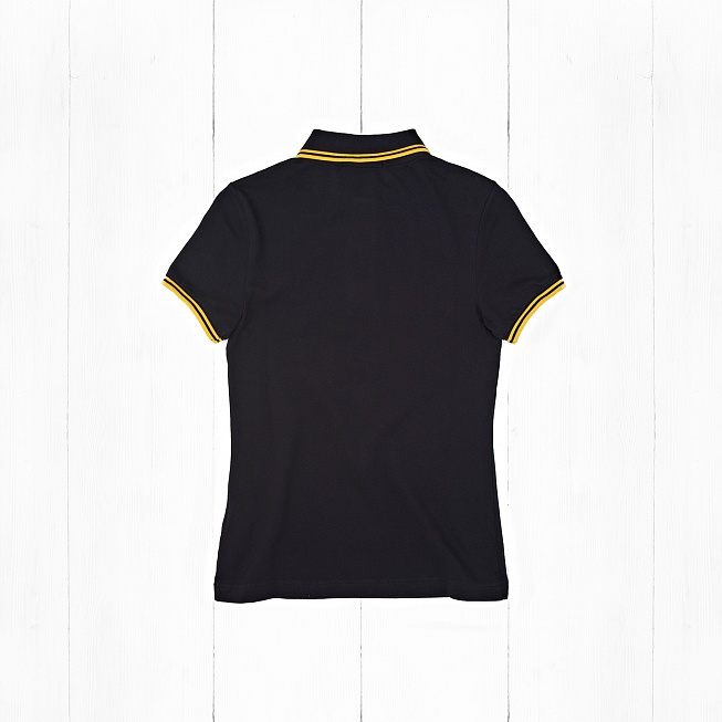 Поло Fred Perry TWIN TIPPED Black/Yellow - Фото 1