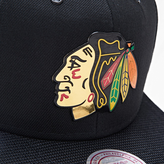 Снепбек Mitchell & Ness NHL CHICAGO BLACKHAWKS Carat Black - Фото 2