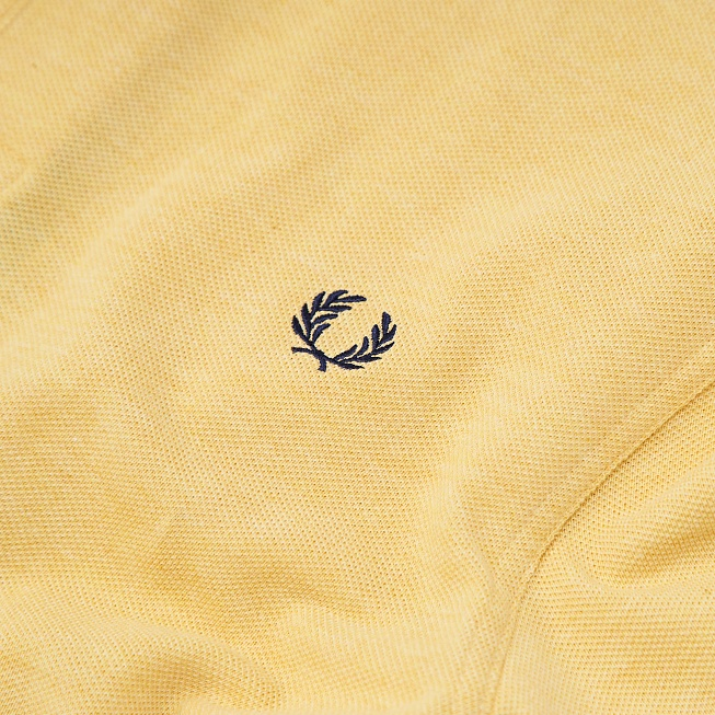Поло Fred Perry SLIM FIT TWIN TIPPED Yellow - Фото 3