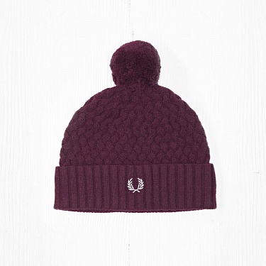 Шапка Fred Perry LATTICE KNIT Bordeaux