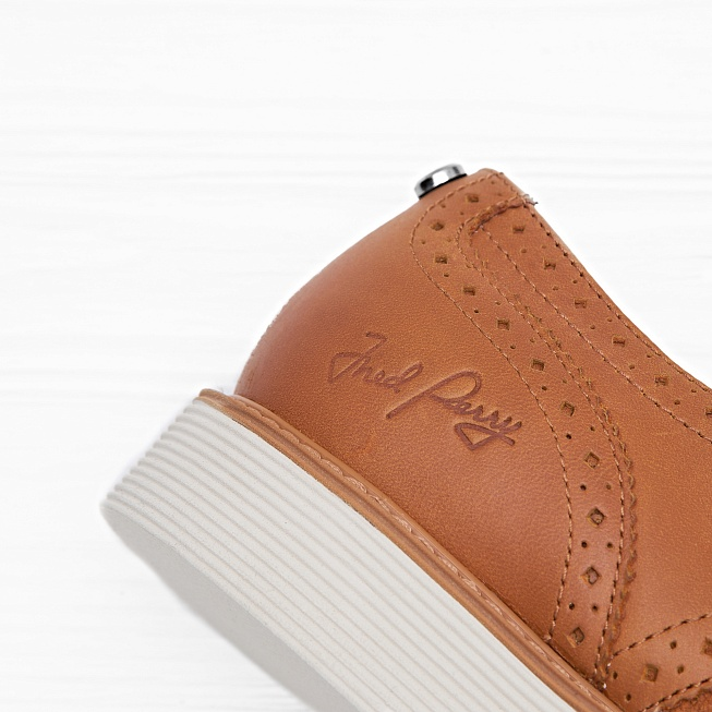 Ботинки Fred Perry NEWBURGH BROGUE LEATHER/SUEDE Light Tan - Фото 4