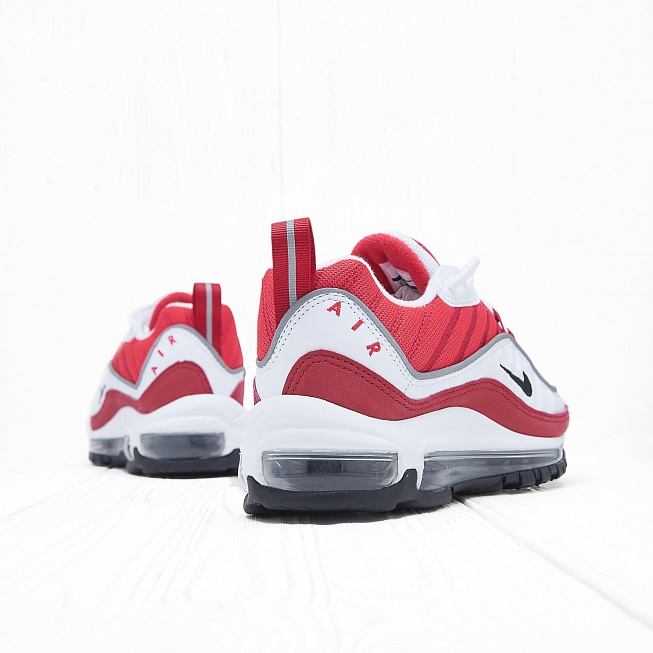 Кроссовки Nike W AIR MAX 98 White/Black-Gym Red-Reflect Silver - Фото 2