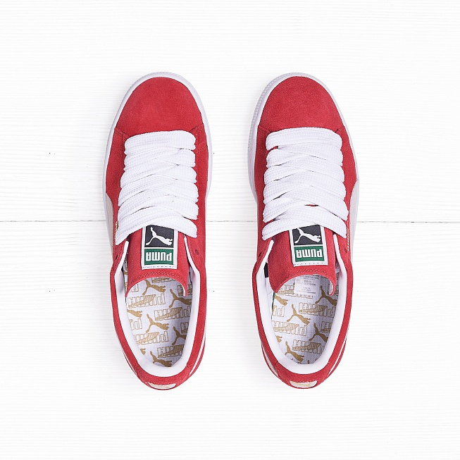 Кроссовки Puma SUEDE CLASSIC+ Team-Regal Red/White - Фото 1