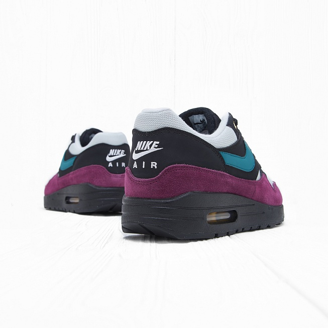 Кроссовки Nike W AIR MAX 1 Black/Geode Teal-Light Silver-Bordeaux - Фото 2