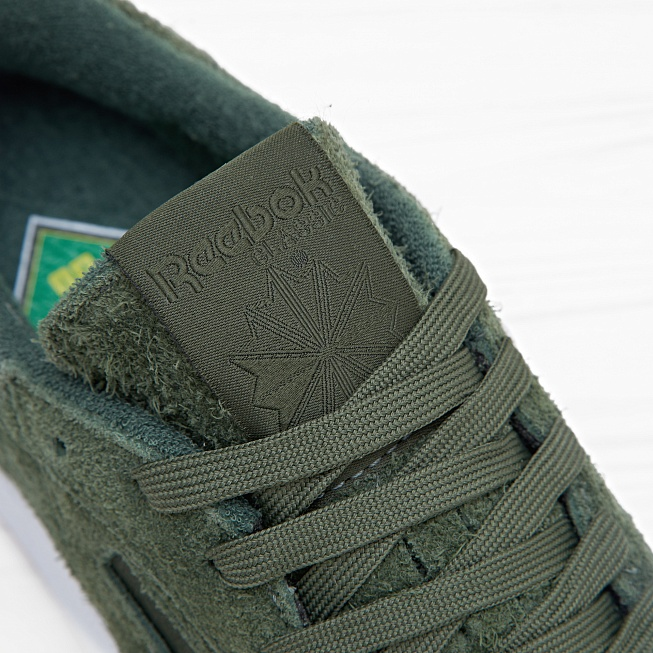 Кроссовки Reebok x Curren$y CLUB C 85 JL Primal Green/White Hemp - Фото 5