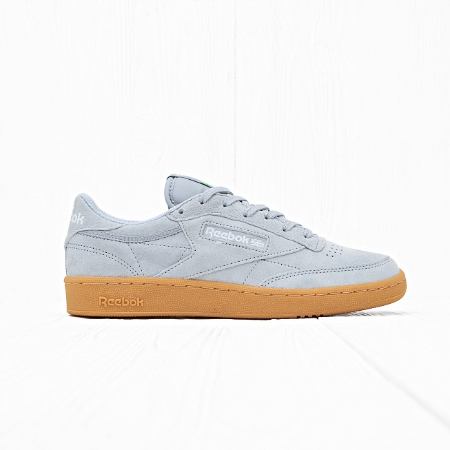 Кроссовки Reebok CLUB C 85 INDOOR Baseball Grey/Instinct Blue/White/Solar Green