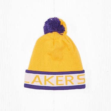 Шапка M&N NBA LOS ANGELES LAKERS Purple/Yellow