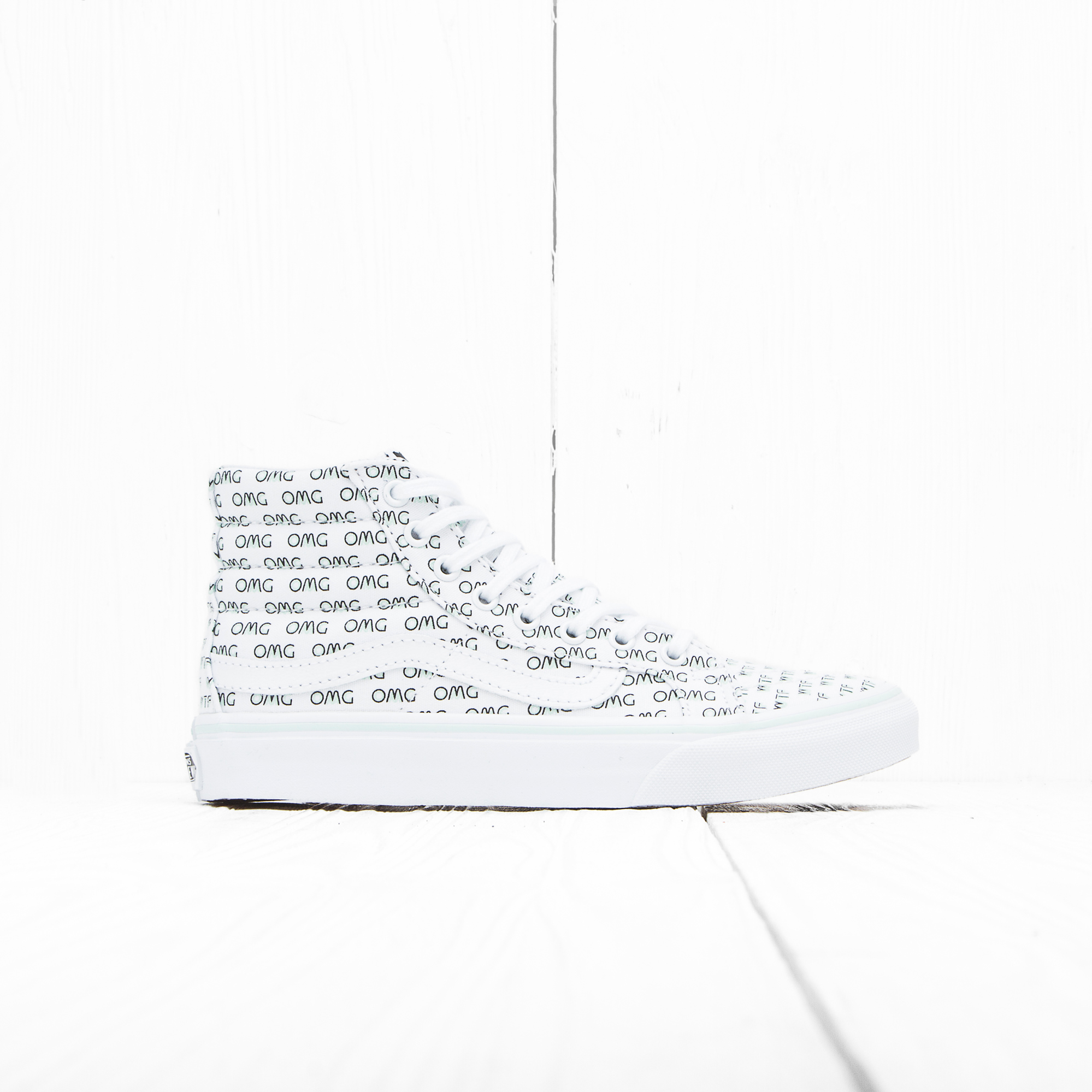 Кеды Vans SK8-HI SLIM (SAYINGS) True White Omg