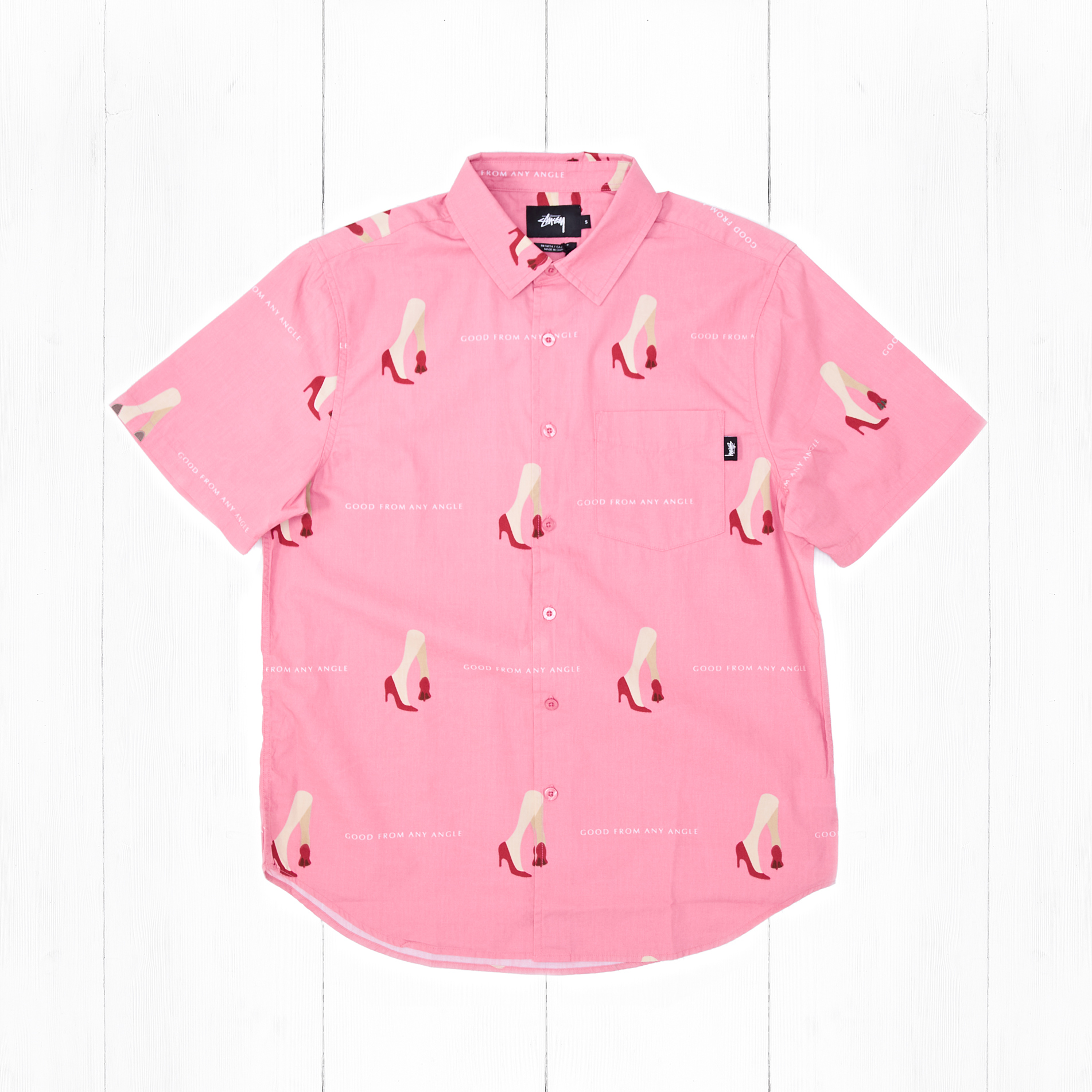 Рубашка Stussy GOOD FROM ANY ANGLE Pink
