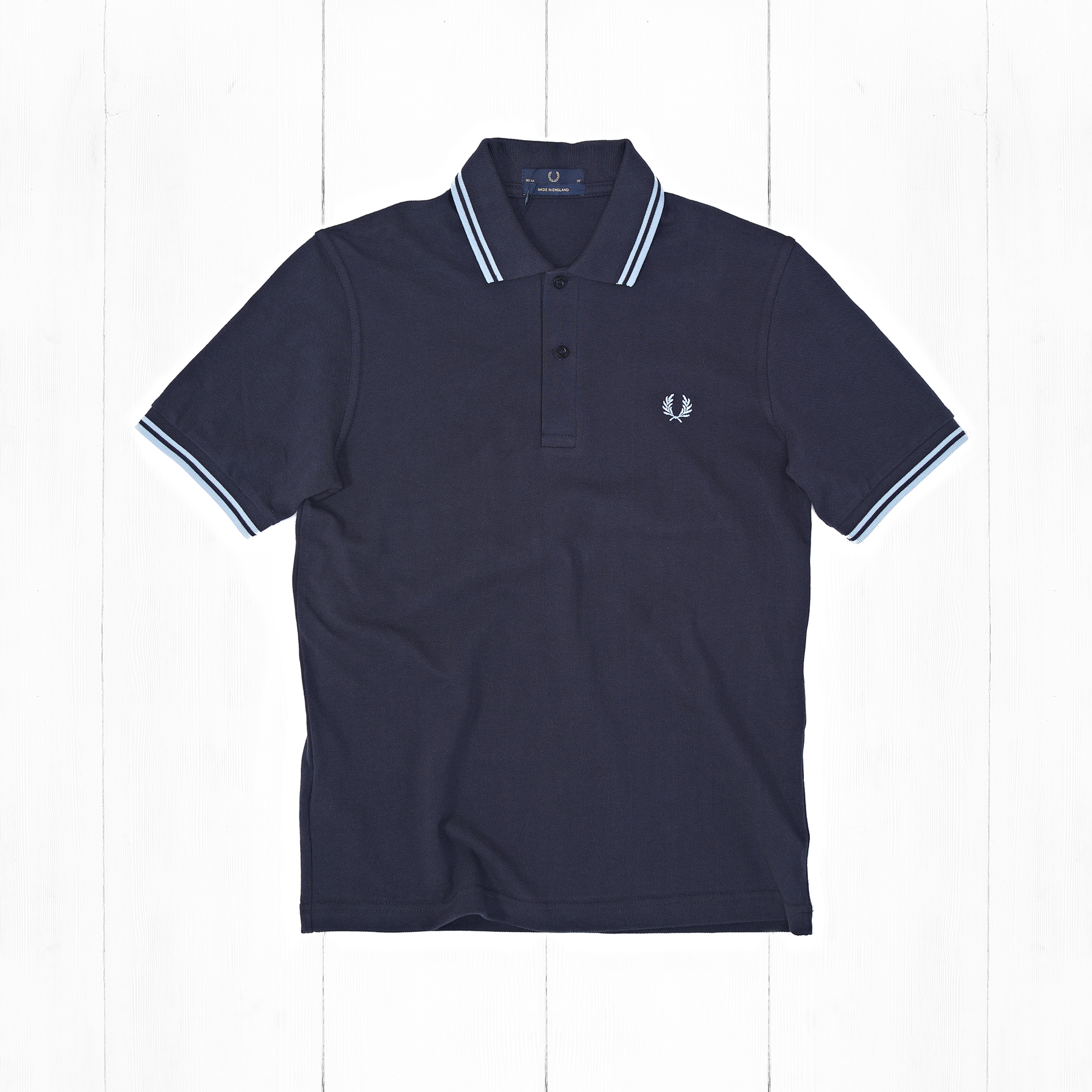 Поло Fred Perry TWIN TIPPED Navy/Ice