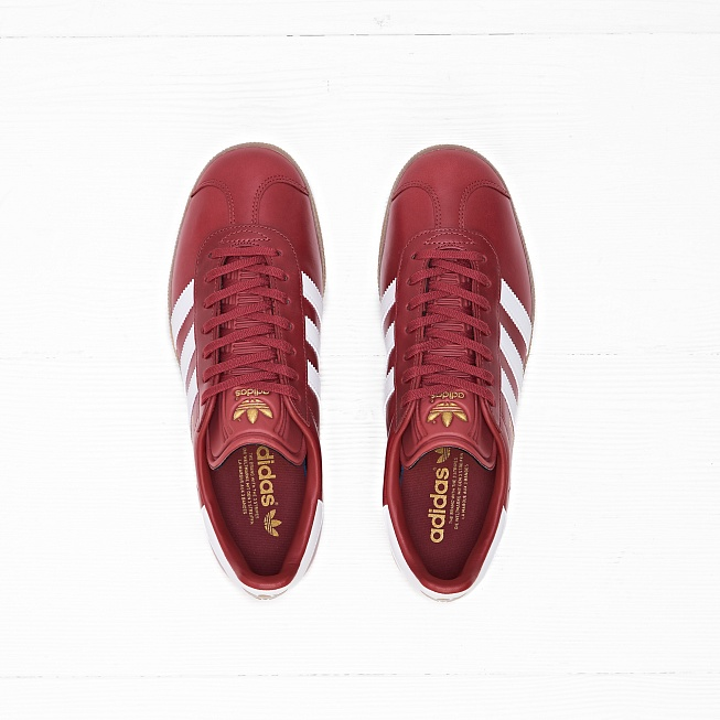 Кроссовки Adidas GAZELLE Mystery Red/White/Gold Metallic - Фото 3