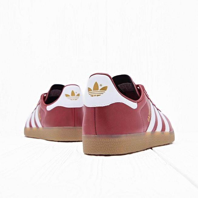 Кроссовки Adidas GAZELLE Mystery Red/White/Gold Metallic - Фото 2