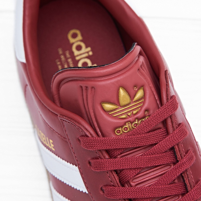 Кроссовки Adidas GAZELLE Mystery Red/White/Gold Metallic - Фото 5